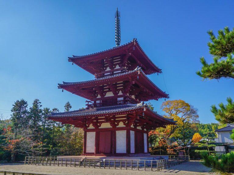 (斑鳩にある小さな古い寺院)法輪寺 Hōrin-ji Temple