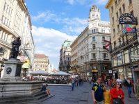 (ウィーン中心部で最も有名な通りの一つ)グラーベン The Graben