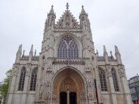 (ゴシックの外観とバロックの内観)ノートルダム・デュ・サブロン教会 The Église Notre-Dame du Sablon