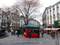 (グラン・プラスの修復を行ったブリュッセル市長の噴水)市場広場 Place de l'Agora