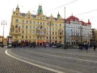 (プラハ旧市街と新市街の境界)共和国広場 The Republic Square