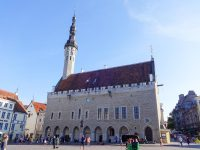 (タリン旧市街の中心)タリン市庁舎 The Tallinn Town Hall