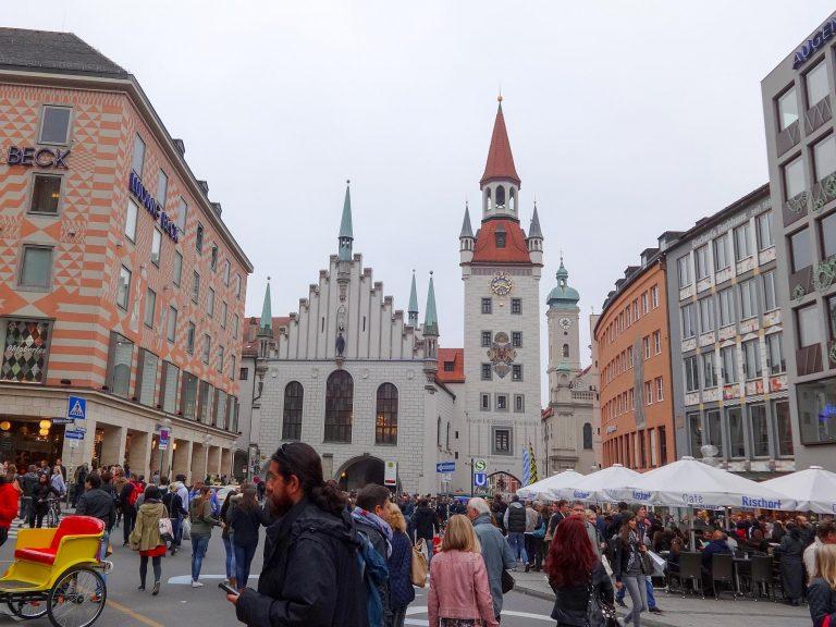 (かつてのミュンヘン旧市街の中心)ミュンヘン旧市庁舎 The Old Town Hall