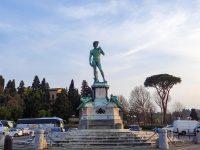 (フィレンツェを見下ろす丘の上に立つ)ミケランジェロ広場 Piazzale Michelangelo
