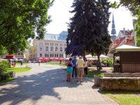 (謎の石像と遊ぶ)リーヴ広場 Livu Square