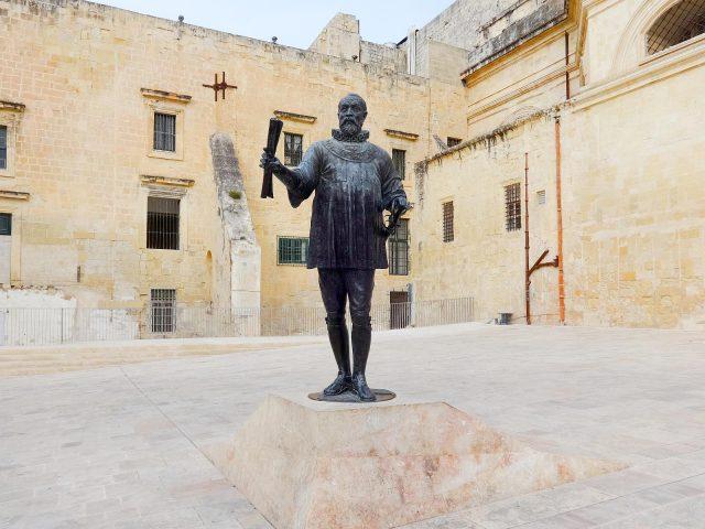 The Statue of Jean Parisot de Valette