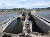 (世界で最初の吊橋道路の一つ)コンウィ吊橋 The Conwy Suspension Bridge