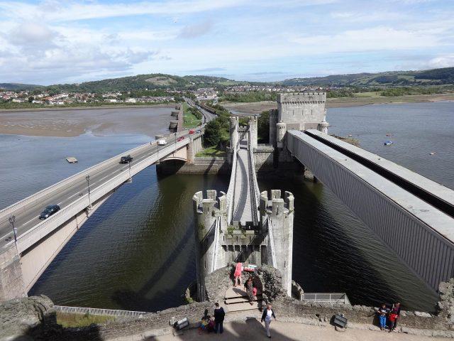 The Conwy Suspension Bridge