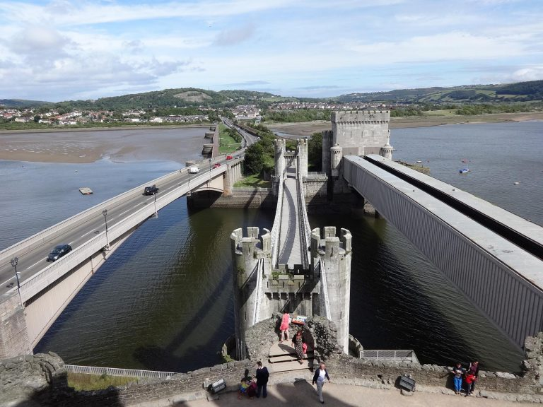 The Conwy Suspension Bridge